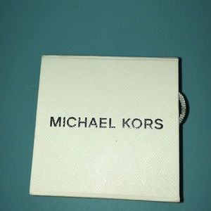 Michael Kors RoseGold Tone Pave CrissCross X Ring